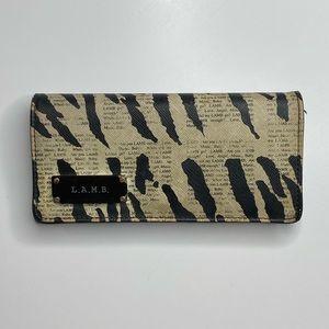 L.A.M.B Zebra Newsprint Wallet